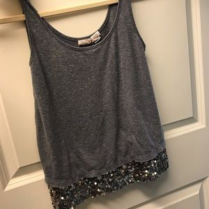 Gray tank with sparkle detail